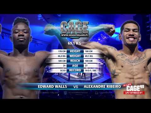 CAGE48 Edward Walls vs Alexandre Ribeiro Fight Highlight