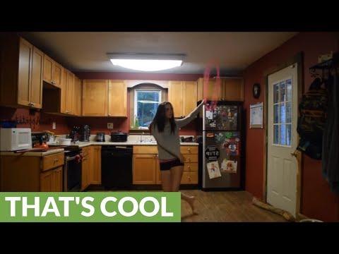 Talented hula hoop artist demonstrates her incredible skills