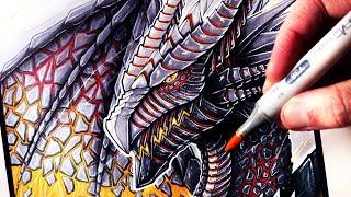 Let's Draw a LAVA DRAGON - FANTASY ART FRIDAY