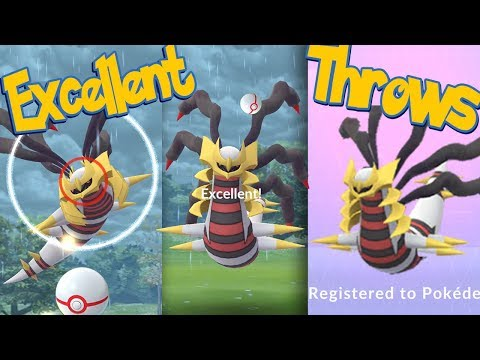 GIRATINA ORIGIN FORME Excellent Throws EVERY TIME! How To Hit More Excellent Throws | Pokemon Go