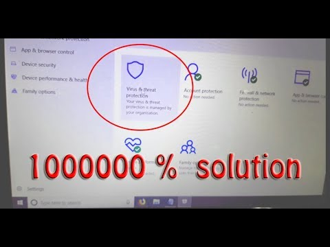 Windows 10 Antivirus Not Working / Your Virus & Threat Protection Is Managed By Your Organization
