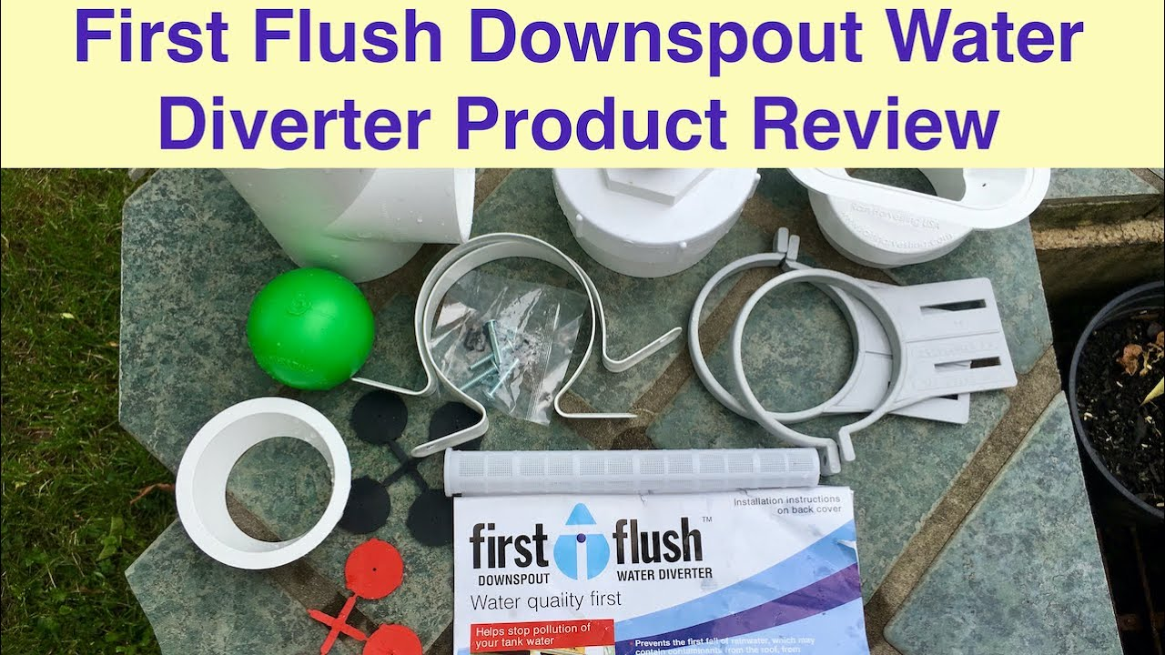 First Flush Downspout Water Diverter Product Review Youtube