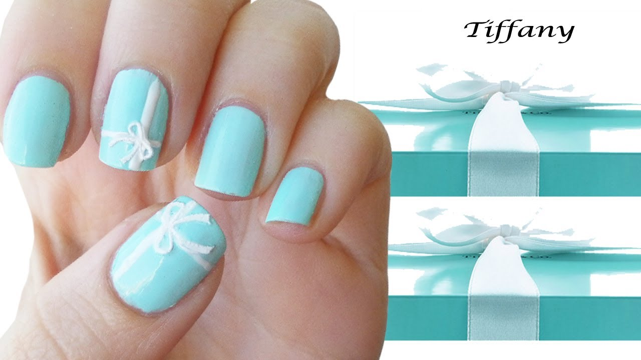 Tiffany nail art tutorial youtube prinsesfo Images