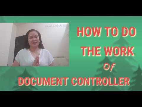 How To Do The Work Of A Document Controller