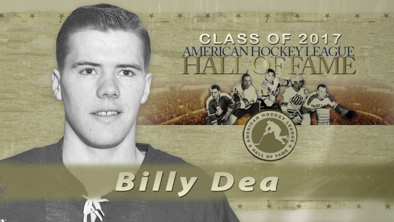 Ahl Hall Of Fame Billy Dea 2017 Youtube