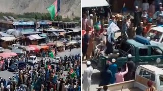 video: Taliban kill protesters who tried to raise Afghan flag