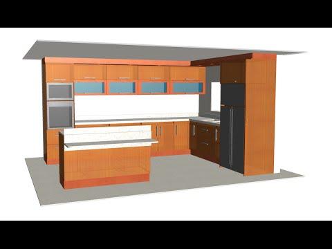 Dise o 3d muebles de cocina gavinetes isla modulos for Programa de diseno de muebles en 3d