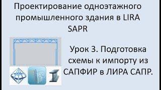 Проектирование одноэтажного промышленного здания в Lira Sapr Урок 3