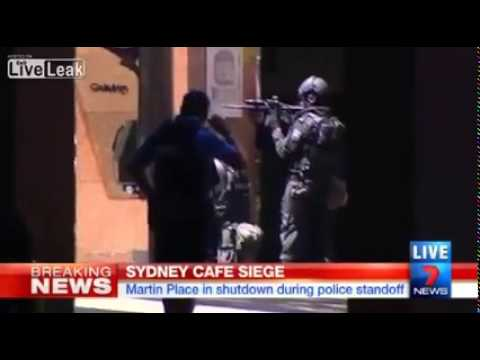 Gunman takes Hostages at Cafe in Sydney Australia Terror Attack