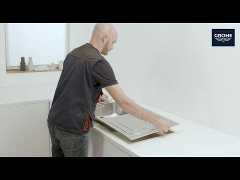 Installation einer Standard-Einbau Küchenspüle