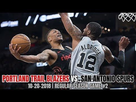 Portland Trail Blazers vs San Antonio Spurs - Full Game Highlights - October 20, 2018