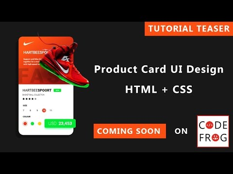 Product Card UI Design - Tutorial Teaser thumbnail