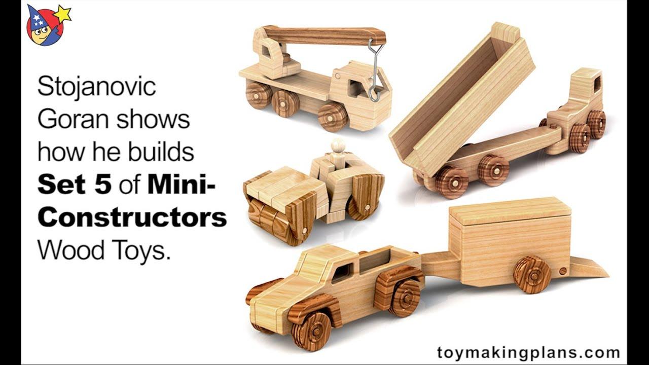 wood toy plans - set 5 mini constructors