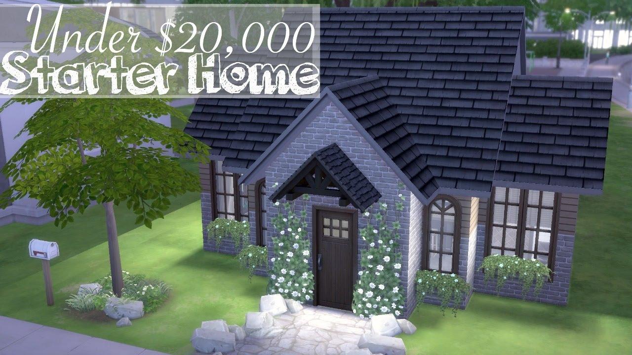 The Sims 4 // STARTER HOME Under $20,000 // SPEED BUILD (No CC)
