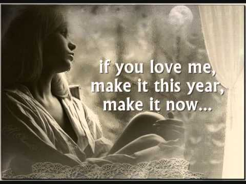 MAYBE THIS YEAR - (Lyrics)