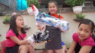 Videos For Kids Wash Toys funny Five Little play Bag Bag Jumping Song for Children