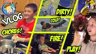 Winter Pool Roll / Dirty Lizard Underwear / Chores and Traptanium / School Play (Funnel Vision Vlog)
