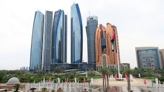 Abu Dhabi - Emirates Palace, Etihad Towers, Heritage Village, Capital Gate