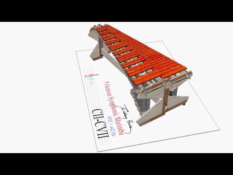c2-c7,  5 octaves symphonic marimba