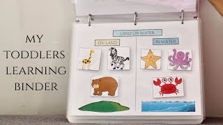 Toddler Learning Binder | Fun & Educational Activities