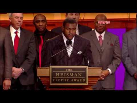 Mark Ingram Wins the 2009 Heisman Trophy and speech