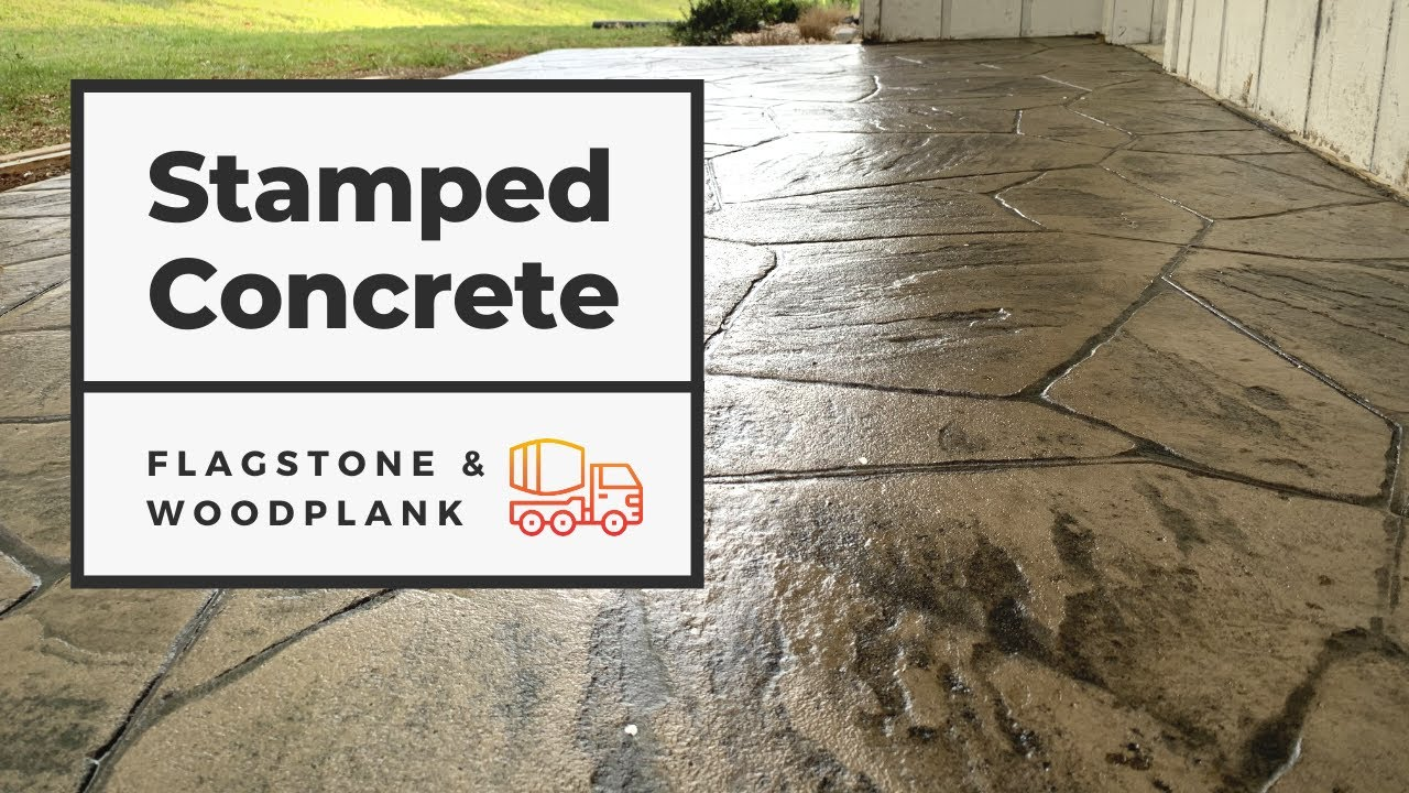 how to form pour and finish a stamped concrete patio