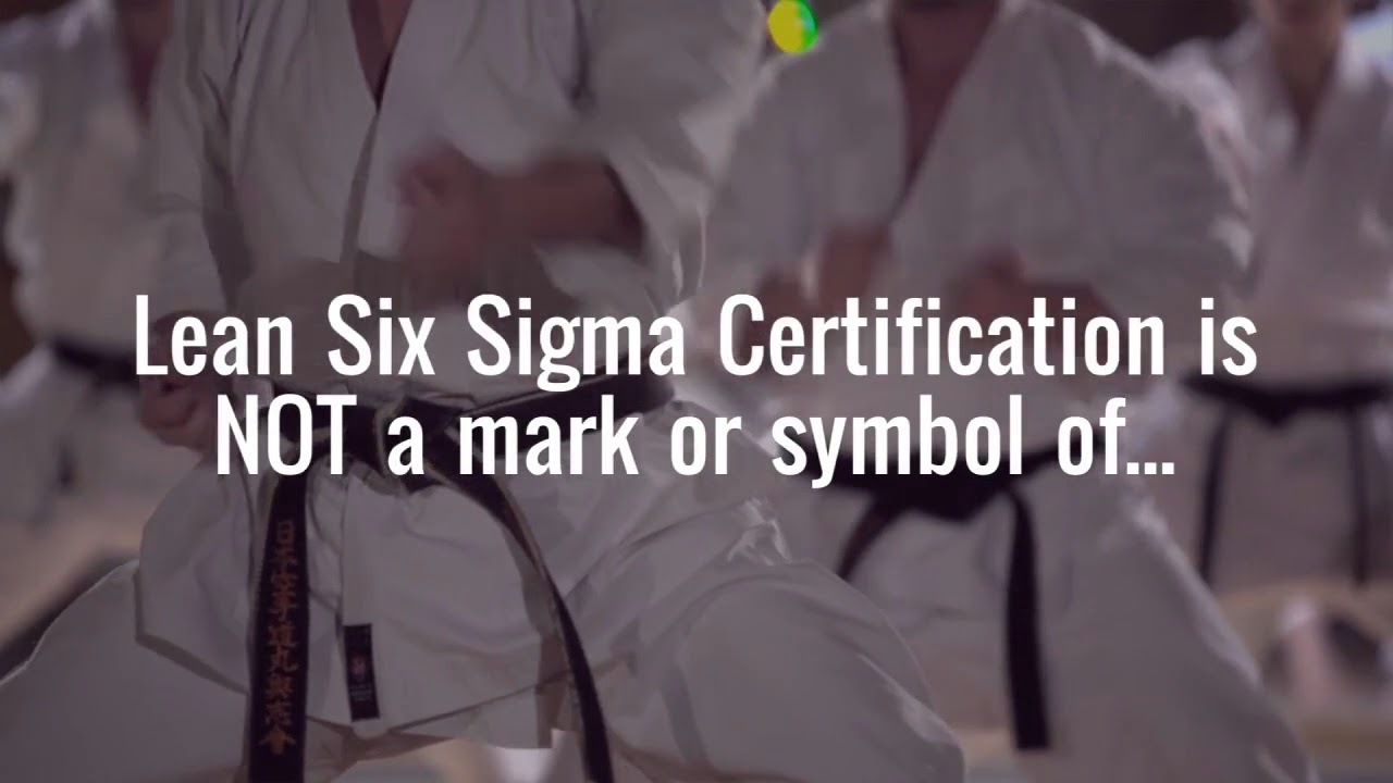 Six sigma certification is not a mark or symbol of the end of six sigma philippines 1betcityfo Gallery