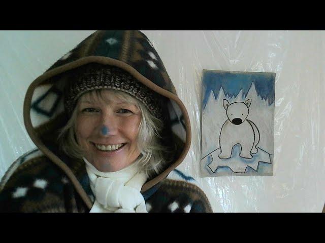 Elke malt - Eisbär für Kindergarten- und Grundschulkinder