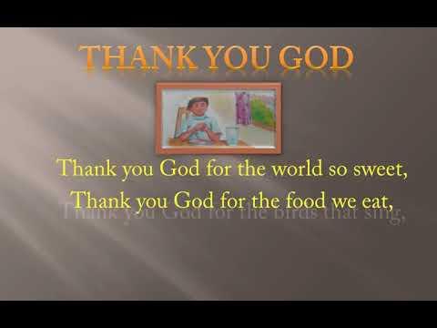 Kids Rhymes - Kids Poem - Thank You God