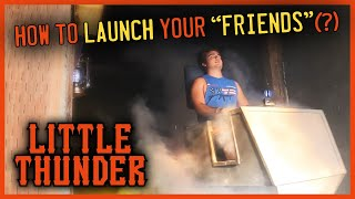 Building a LAUNCH for a BACKYARD Coaster  LITTLE THUNDER