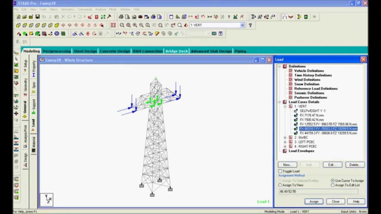 Staad Pro Steel Design Transmission Tower using Design Code IS 801