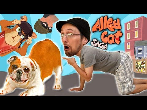 Don't Sniff The Dog Butts! Feline Fun W/ FGTEEV Duddy! (Lets Play ALLEY CAT SAGA) Yay, More Weirdy