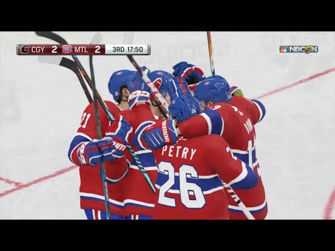 NHL 19 - Calgary Flames Vs Montreal Canadiens Gameplay - NHL Season Match Oct 23, 2018