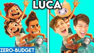 LUCA WITH ZERO BUDGET! (LUCA FUNNY DISNEY MOVIE PARODY BY LANKYBOX!)
