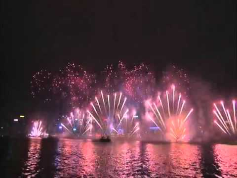 New Year Fireworks 2016  in Hong Kong - Màn bắn pháo hoa Năm mới 2016 tại Hồng Kông