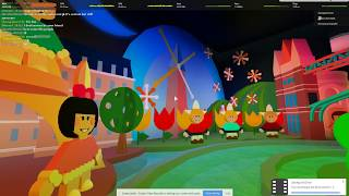 ROBLOX: A very cool It's a Small World ReCreation in Bloxneyland FULL RIDE NOW OPEN HD