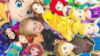 ОЧЕНЬ МНОГО ИГРУШЕК куклы Принцессы Диснея и все ИГРУШКИ мира Видео для Детей Детская площадка Vlog