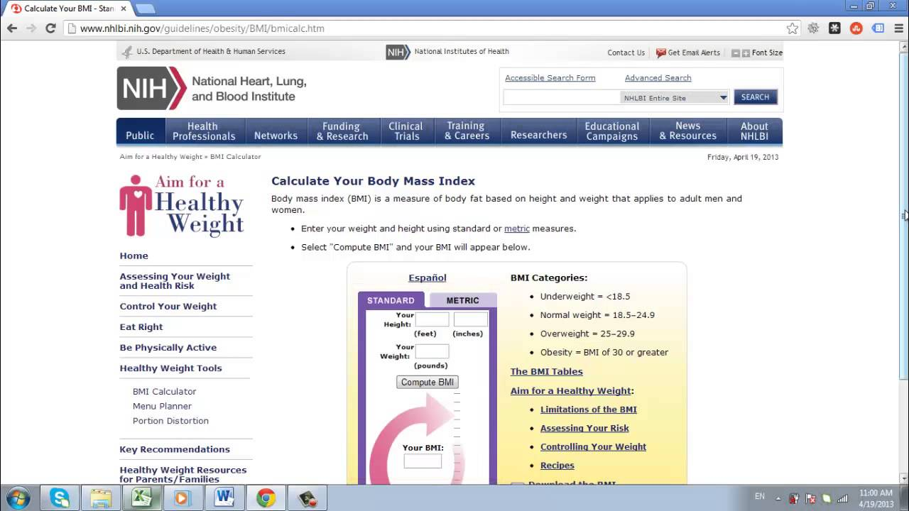 How To Calculate Body Mass Index Online - Youtube-5435