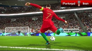 Portugal vs Iran - FIFA World Cup - PES 2018