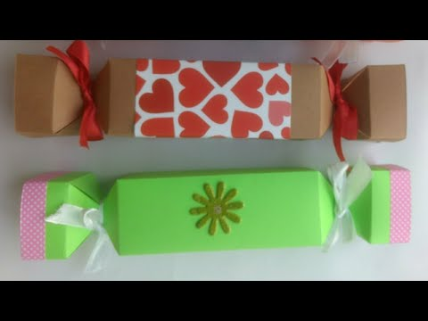 Candy shaped gift box| DIY Paper Box | Kids Craft | Party Favor Box