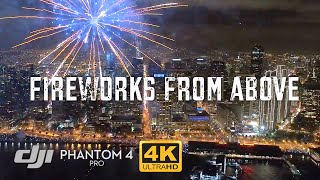 San Francisco NYE 2017 Fireworks from Drone / DJI Phantom 4 Pro [4K]