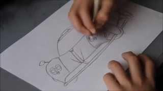 How to draw a Pagani Zonda!