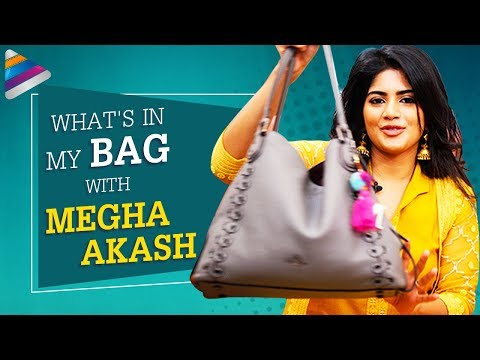 What's In My Bag with Megha Akash | Chal Mohan Ranga | Nithiin | Thaman S | Telugu FilmNagar