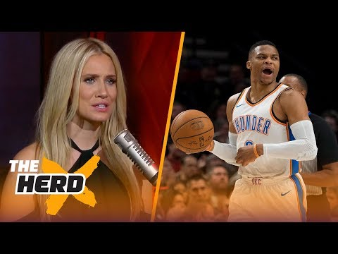 Westbrook unhappy with Carmelo Anthony ejection vs. Portland - Kristine and Colin react   THE HERD