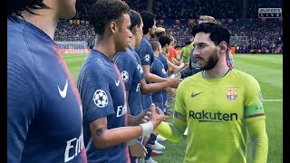 PSG vs FC Barcelone FIFA 19 Difficulté Ultime Gameplay PC UCL