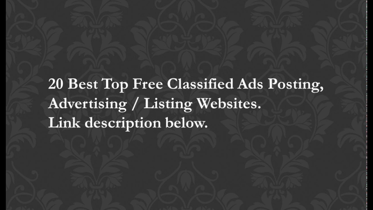 10 Best Top Free Classified Ads Posting, Advertising / Listing Web Sites