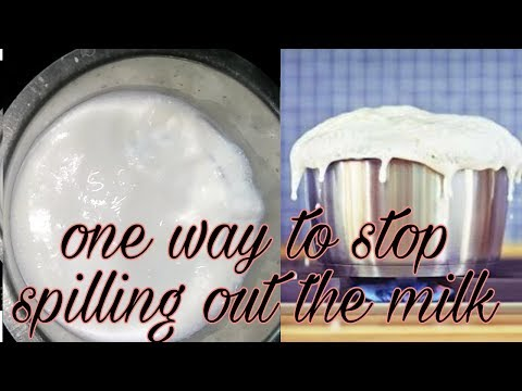 Stop spilling milk while boiling.