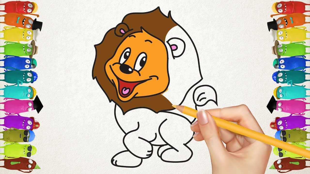 Coloring Pages Desert Animals Drawing Lion Tiger Giraffe