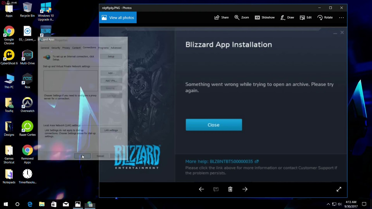 Blizzard app installation error possible fix