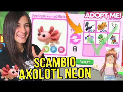 Scambio l'AXOLOTL NEON in un server RICCO: è un WIN 🥳 ROBLOX ADOPT ME ITA By FrancyDreams